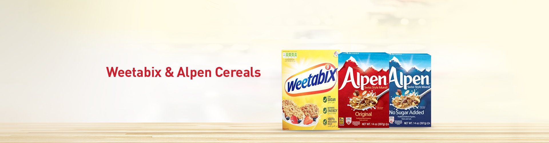 Weetabix and Alpen Cereals